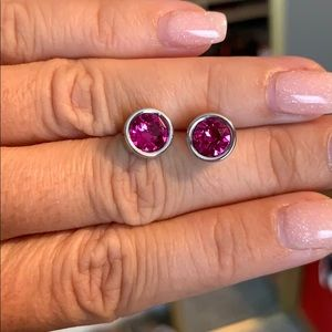 Pink Touchstone Crystal studs